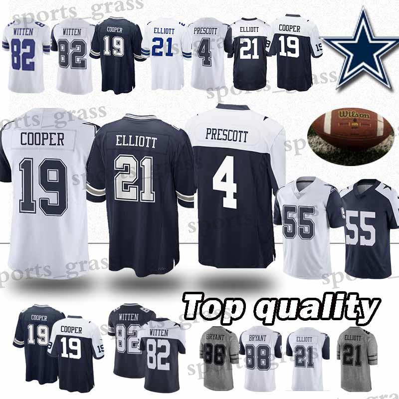 f090ed469 2019 21 Ezekiel Elliott Dallas Jerseys Cowboys 4 Dak Prescott 19 Amari  Cooper 55 Leighton Vander Esch Jersey 2019 New Men From Sports_grass, $23.5  | DHgate.