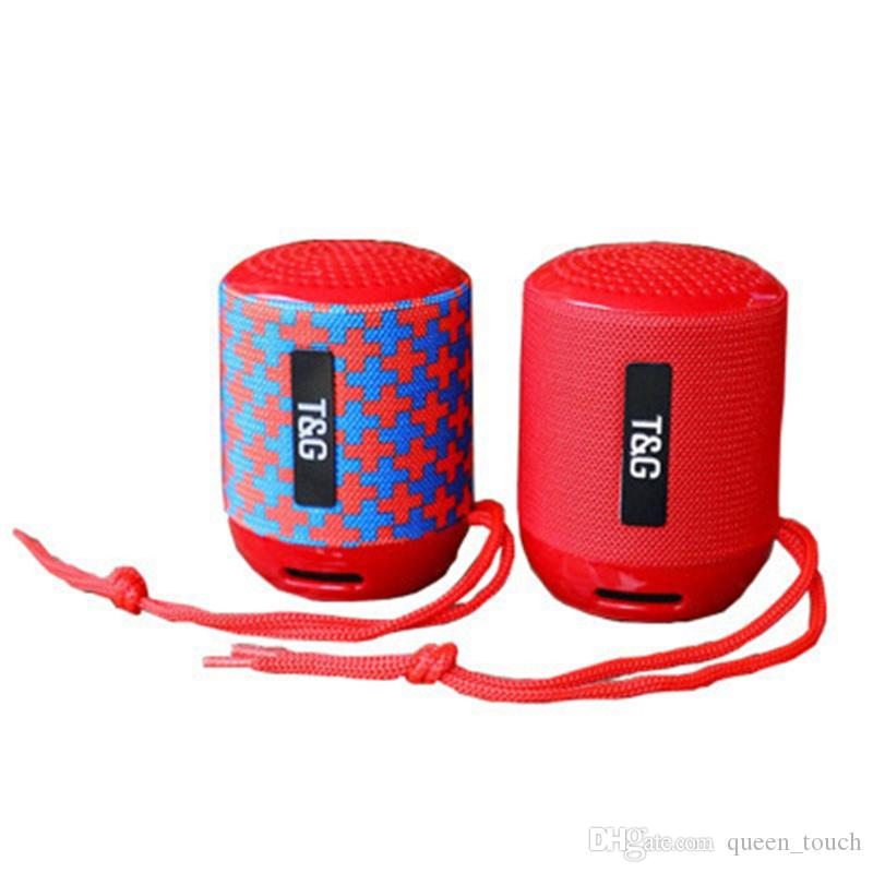 TG129 Portable Bluetooth Speaker Mini Wireless Subwoofers Music MP3 Player  FM Radio TF Storage Card USB Cloth Creative Outdoor Speakers