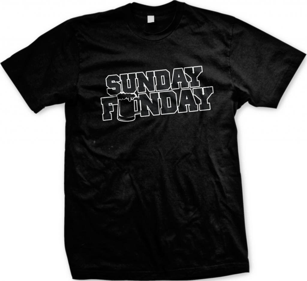 054cc658 Sunday Funday Drinking Beer Booze Alcohol College Party Football Mens Tshirt  Fun Men'S T Shirt New Fashion Casual Cotton Short Sleeve Funny T Shirts For  T ...