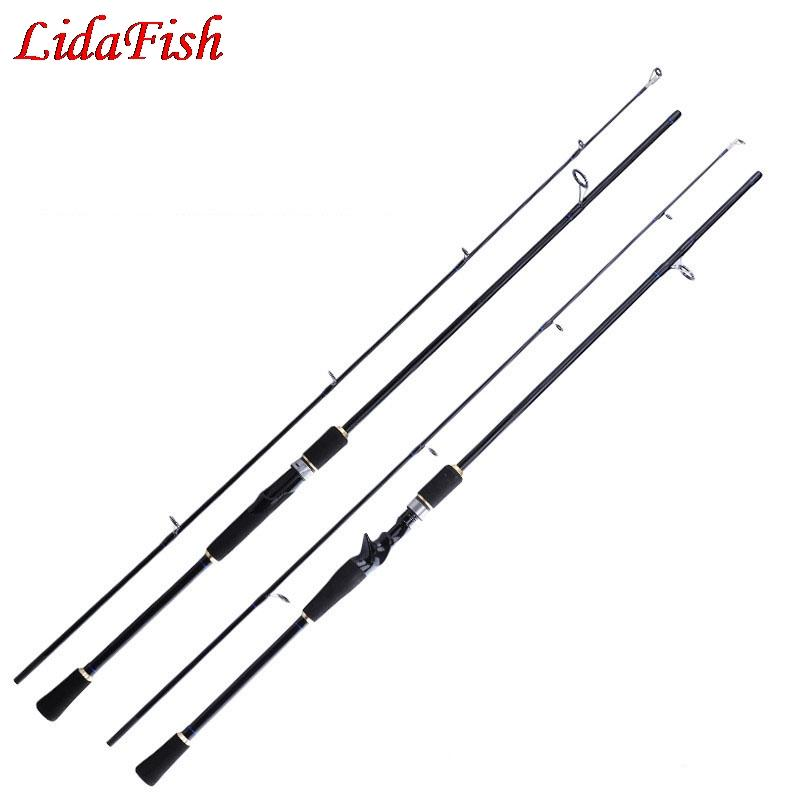 Preto 1.65M / 1.8M Fundição / haste de giro M Power EVA Handle Ação rápida Bass Sea Coshore Rod