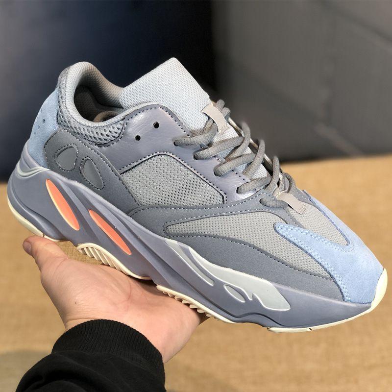 new arrival 347b2 5a13d Acquista Adidas Yeezy Boost Nmd 700V2 Shoes Men Women Wave Runner 700 V2  Statico Inertia OG Grigio Scuro Mauve Mens Kanye West Scarpe Da Corsa  Migliore ...