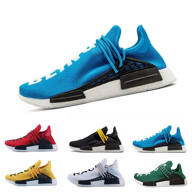 53947da94 2018Creme X NERD Solar PacK Human Race Running Shoes Pharrell Williams Hu  Trail Cream Core Black Equality Trainers Mens Women Sports Sneaker Cheap Shoes  For ...