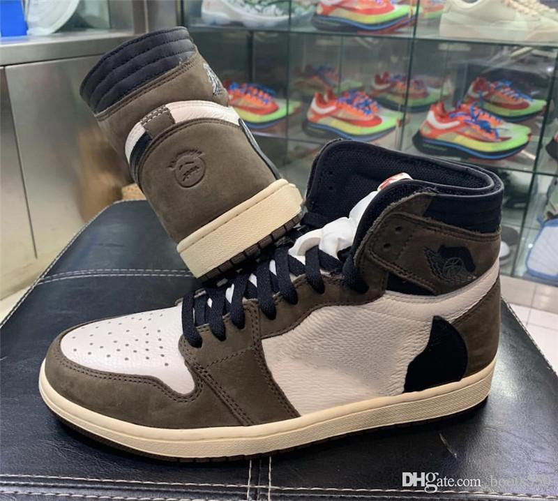 504f14f457ee 2019 Hot Air Authentic 1 High Retro Travis Scott1 OG TS SP 3M Cactus Jack  Dark Mocha Men Women Basketball Shoes Sneakers CD4487 100 Shoes Sports  Sports ...