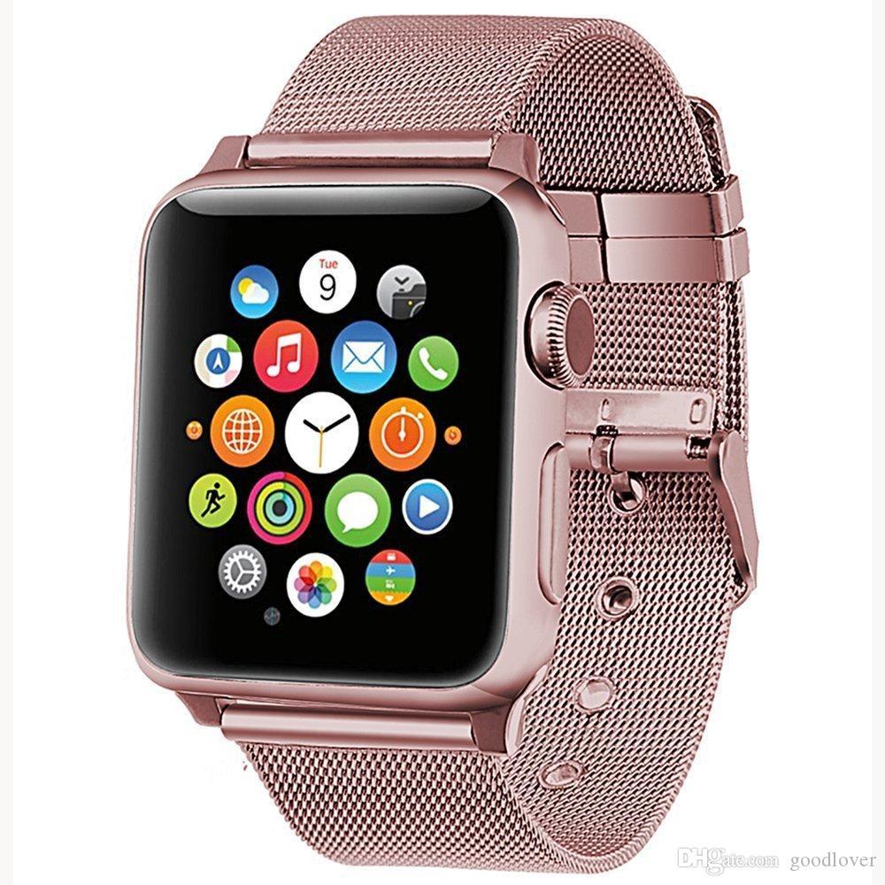 3eb8d7a4b18 Compre Venta Al Por Mayor De Milanese Loop Correa De Reloj De Acero  Inoxidable Para Apple Watch Series 4 3 2 1 42mm 38 Mm Correa Para Iwatch  Band 40   44mm ...
