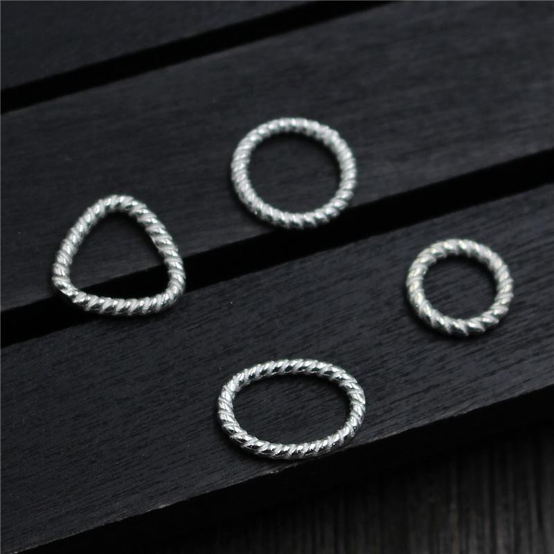 100% 925 Sterling Silver Geometry Separate Spacer Beads for DIY Bracelet Necklace Making Fine Jewelry Findings Accessories