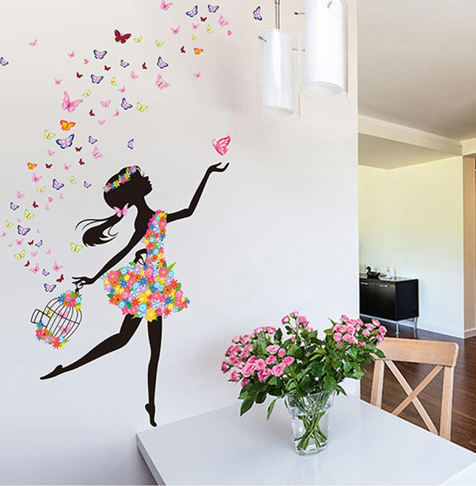 Acheter Fée Fille Stickers Muraux Pour Enfants Chambres Filles