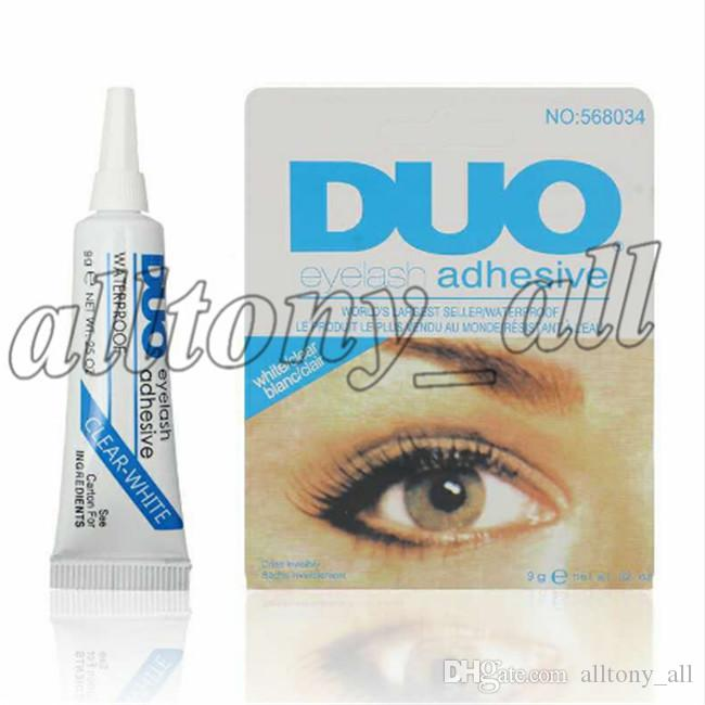 Wholesale Factory Direct DUO Water-proof Eyelash Adhesives (glue) 9G White/BlacK Make Up Tools Professional DHL Free Shipping