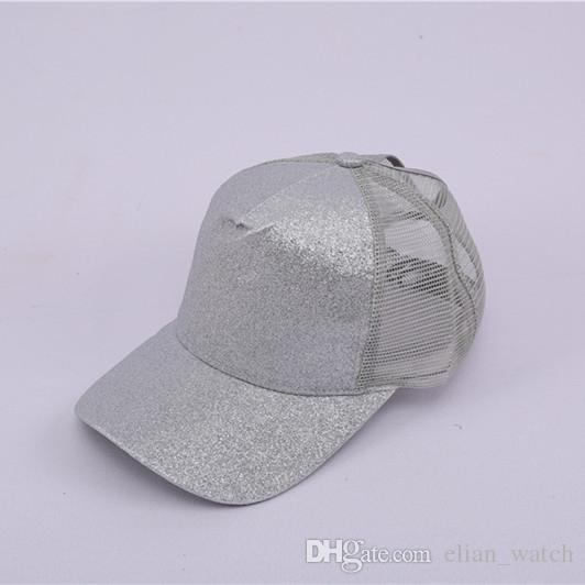 7c8423730de Summer Hats 2019 Glitter Ponytail Baseball Cap Women Messy Bun Snapback  Summer Mesh Hats Casual Sport Sequin Caps Army Cap Cheap Hats From  Elian_watch, ...