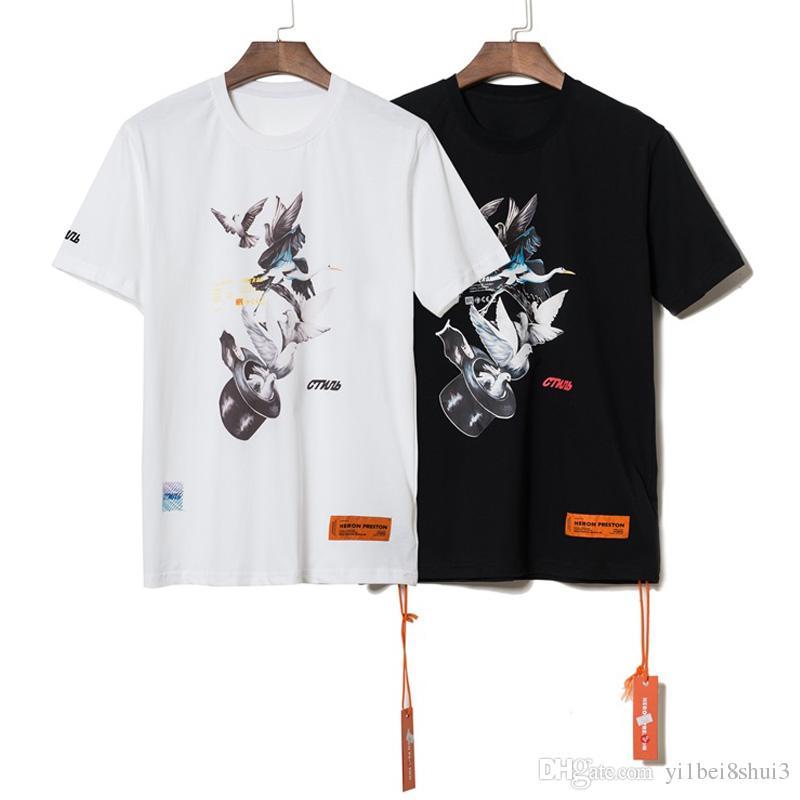 0dbf8f34700d8 Heron Preston Magic Hat Pigeon T Shirt Men Women T Shirt Harajuku Tshirt  Hip Hop Streetwear Brand Summer Cotton Clothing Printed Tees Tops Shirt  Custom T ...