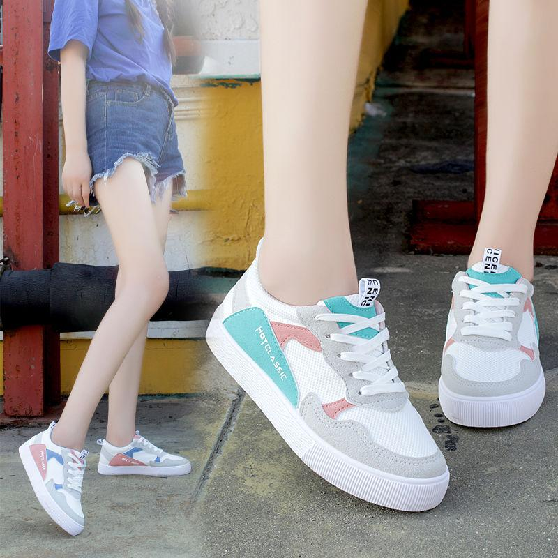 Sycatree 2019 New Hot Korean Version Canvas Running Shoes for Women Student Breathable Girls Flat Shoes Comfortable Sport