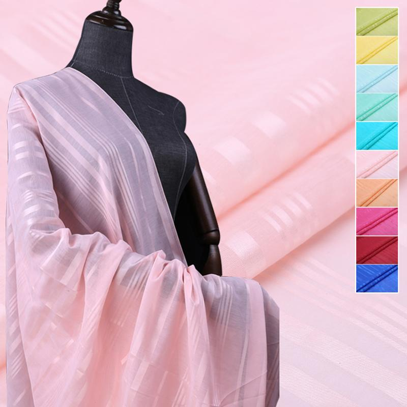 26940b5fafb9 21Colors! 114 CM de ancho 9 MM de raya delgada tela de algodón de seda de  color sólido fino para el traje de verano vestido de falda ropa B038