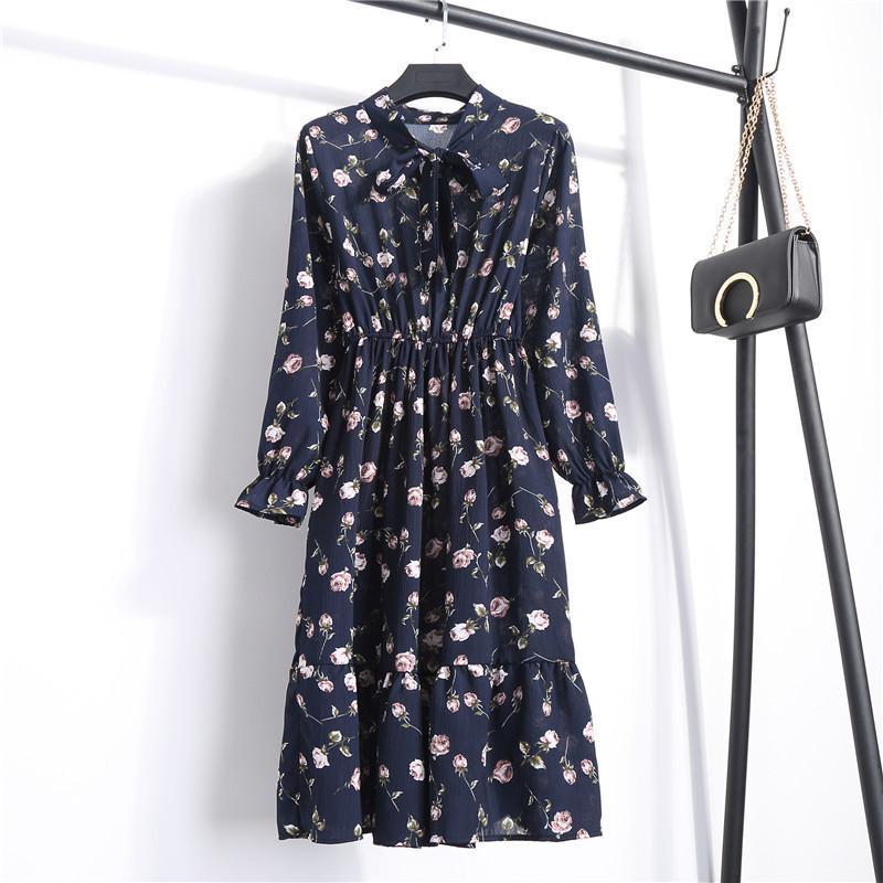 b5f5c7aabe7 Купить Оптом Весна Лето Шифоновое Платье Для Женщин