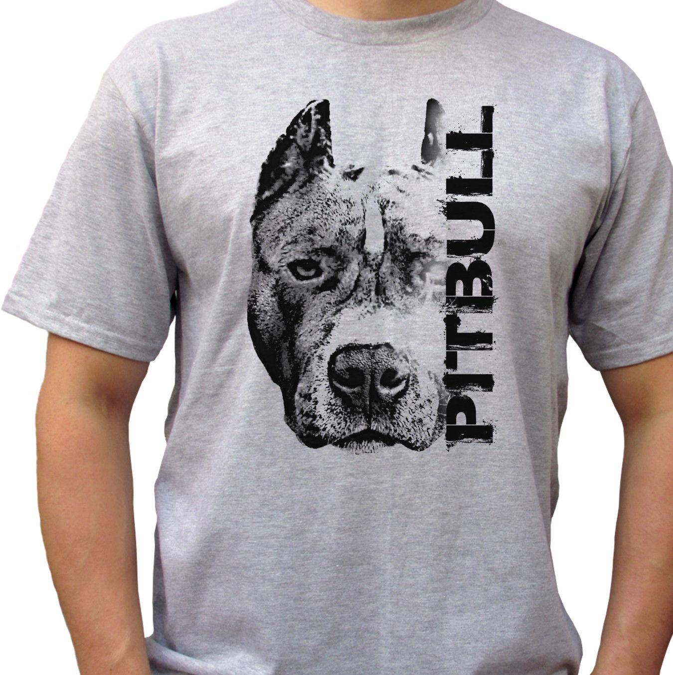 aa82f1ca8 Pitbull Head Grey T Shirt Top Pit Bull Tee Dog Design Mens Sizes Style  Round Style Tshirt White T Shirt Design T Shirt Deals From Goodcup, $16.24|  DHgate.