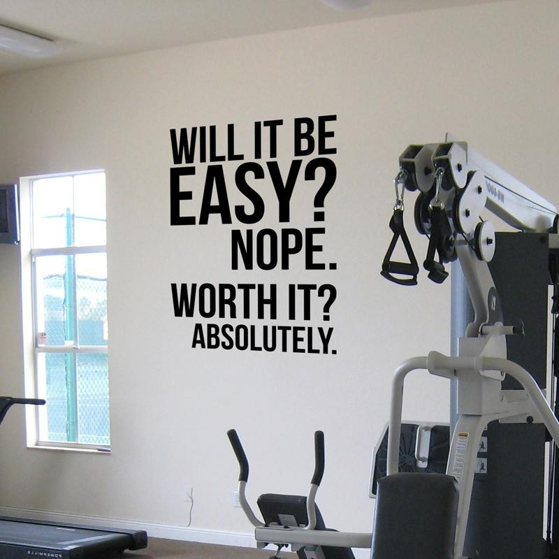 Absolutely fitness motivation wall quotes poster large gym