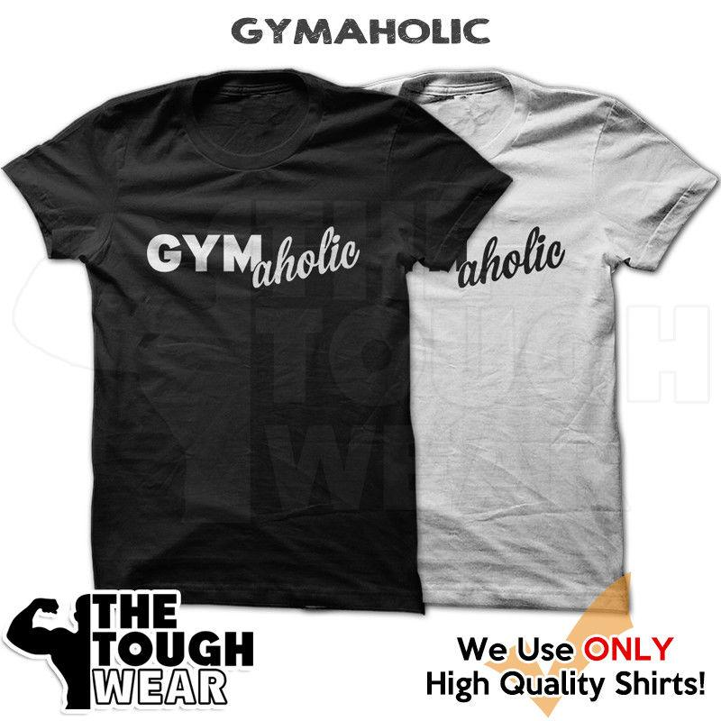 GYMAHOLIC T-Shirt Workout Gym BodyBuilding MMA Fitness Motivation Tee 629