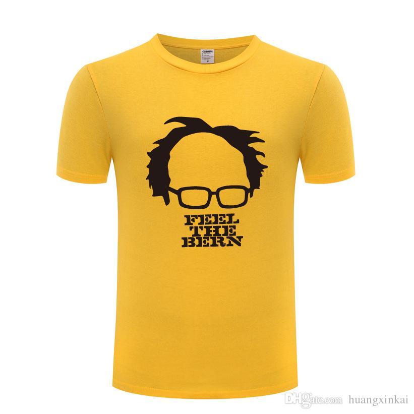 eccfea04 Bernie Sanders Printed Men T Shirt Novelty Funny T Shirts Men Cotton Short  Sleeve Tshirt Streetwear Tee Shirt Homme Cool T Shirt Interesting T Shirts T  ...
