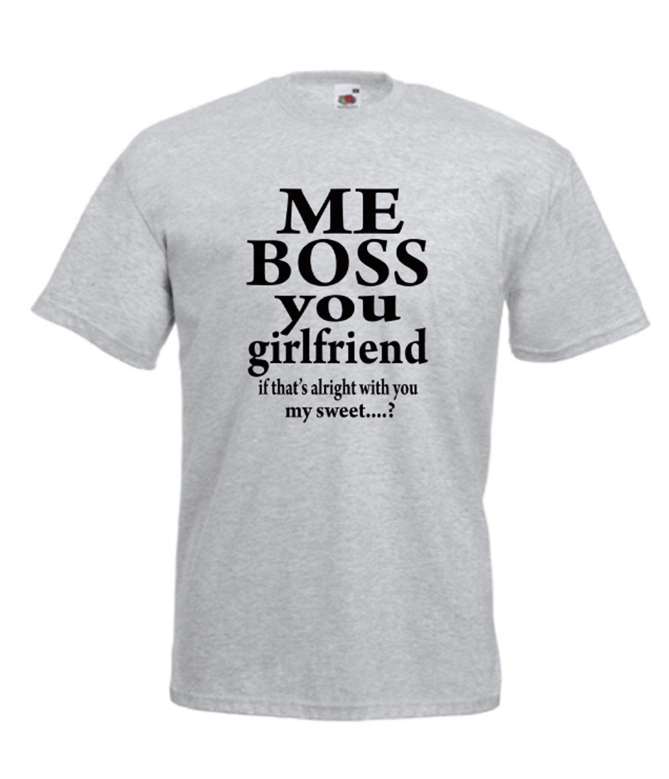 7fb408eaf ME BOSS GIRLFRIEND BOYFRIEND NEW Men Women T SHIRTS TOP Funny Casual Tee  Best T Shirts Design All T Shirt From Fatcuckoo, $12.96| DHgate.Com