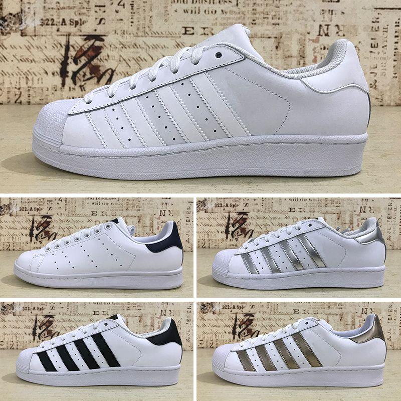 Adidas Superstar 80s 2019T Kostenloser Versand Superstar Weiß Schwarz Rosa Blau Gold Superstars 80 s Stolz Sneakers Superstar Frauen Männer Sport
