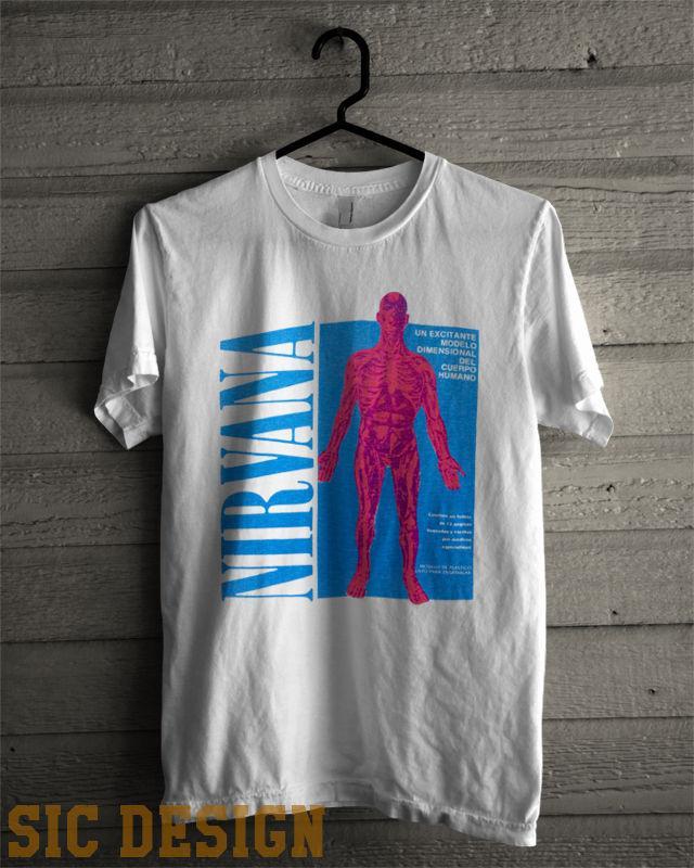 390e3f45 NIRVANA SLIVER T Shirt Vintage Grunge Kurt Cobain SUB POP 90s Men Women  Unisex Fashion Tshirt Funny Cool Top Tee Black Ringer T Shirts Political T  Shirts ...
