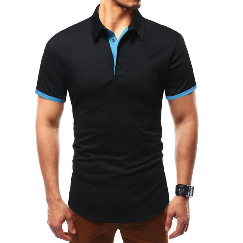 Marque Courtes Casual Coton Hombre Jerseys De Hommes Couleur Manches Polos À Unie Masculina Camisa Shirt Polo Shirts YbD9I2eEWH