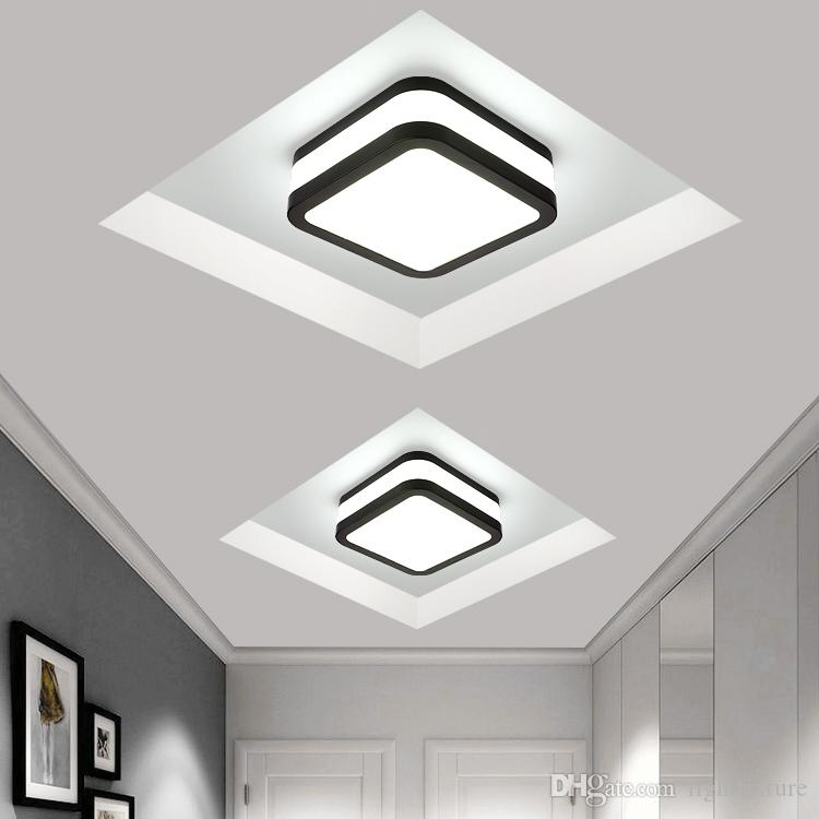 2019 Modern Creative Rectangular Ceiling Lamp Aisle Living Room