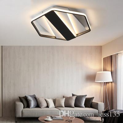 llevadas hexágono modernas del del lámpara del la hogar Luces los del para techo la la lámpara alto de de del de LED accesorios del dormitorio brillo zUMpqSV