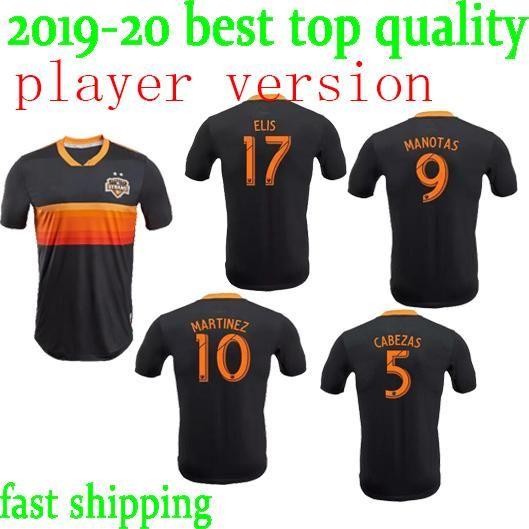 hot sale online c1b07 ff309 Player Version 2018 2019 Houston Dynamo Soccer Jersey Martinez Manotas Elis  Beasley Cabezas Custom Black 18 19 Football Shirt