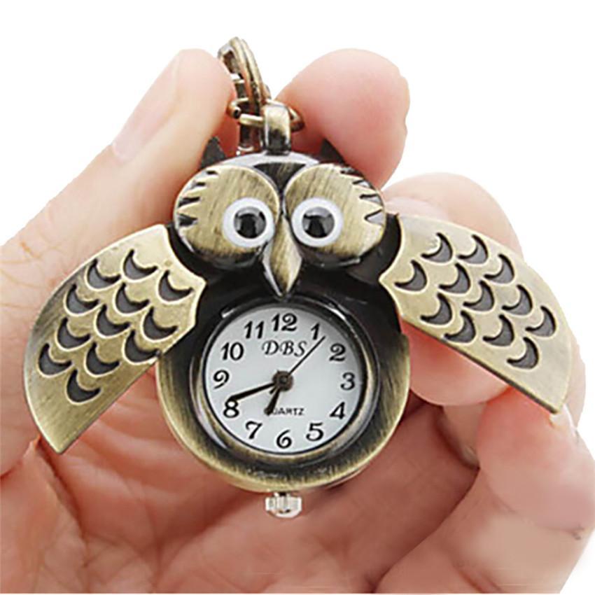 Cool Cuarzo Fashion Colgante Joyería A3 Relojes Retro Collar Hebilla Owl Dominante Mujer Casual Reloj lKJcF1