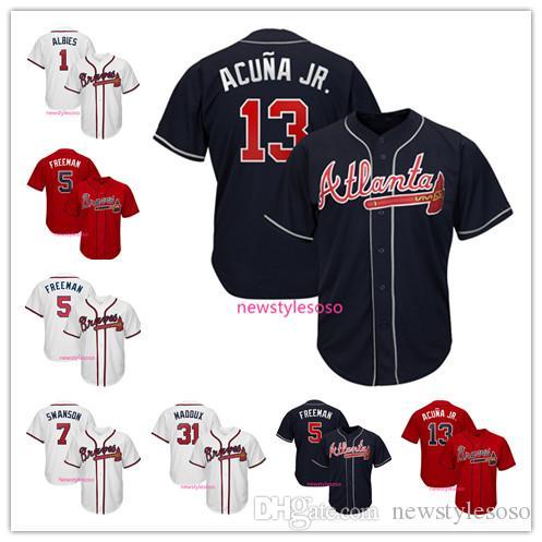 c31c45009a1 Compre Jerseys De Béisbol Atlanta 2019 Braves Jersey Para Hombre ...