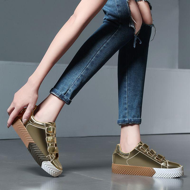 918664c82e5 Fashion Women S Shoes Casual Sneakers Women Flats Hook Loop Shoes Women  Bling Trainers Female Ladies Footwear Zapatos De Mujer Cheap Shoes Shoes  For Women ...
