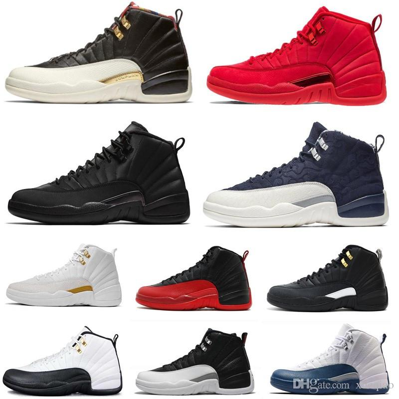 284efccfd715 12s Mens Basketball Shoes 12 OVO White Gym Red Dark Grey Men Women Taxi  Blue Flu Game Sports Shoes Designer Sneakers Size 7 13 Shoes Brands Basketball  Shoes ...
