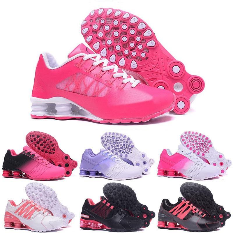 14639c4177 Cheap Hight Quality New Women Shox Avenue NZ Sports Running Shoes Black  Gold Mens R4 Sneakers Grey Man Walking Jogging Tennis Shoes