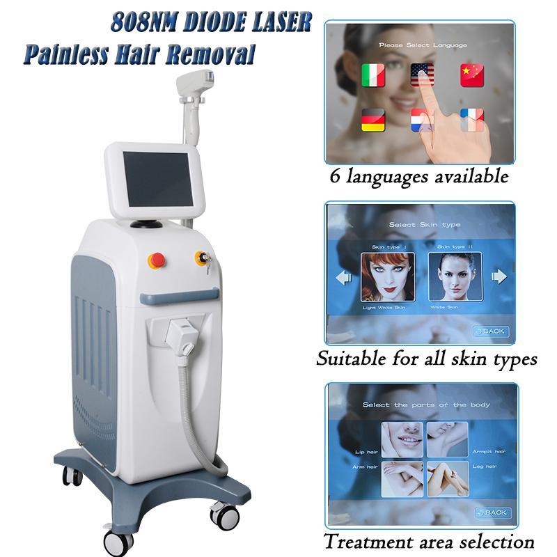 expédition libre Diode Laser Epilateurs permenent cheveux Enlever la machine de beauté Lumenis LightSheer machines Diode