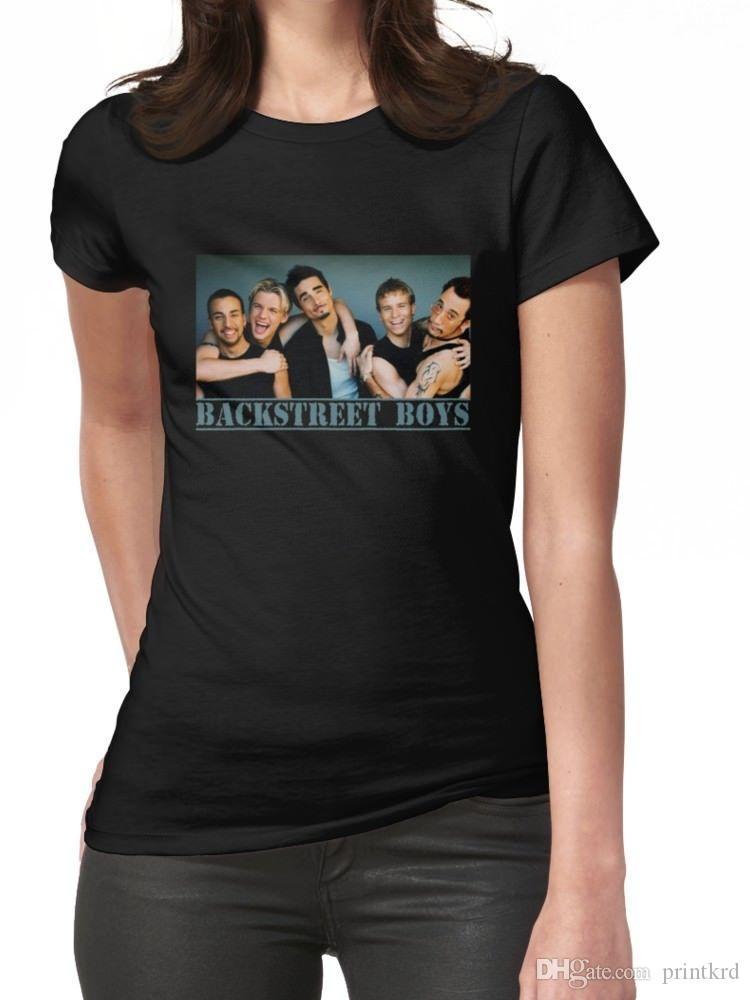 09698a31 Backstreet Boys Women'S Black T Shirt Tees Clothing Designable T ...
