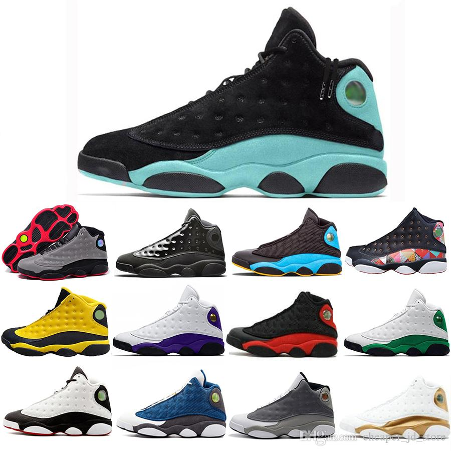 Top Fashion 13 glückliche Green Island Green Men Frauen-Basketball-Schuhe 13s Chris Paul Tag Cp3 DMP 3M Reflective Turnschuhe US 7-13