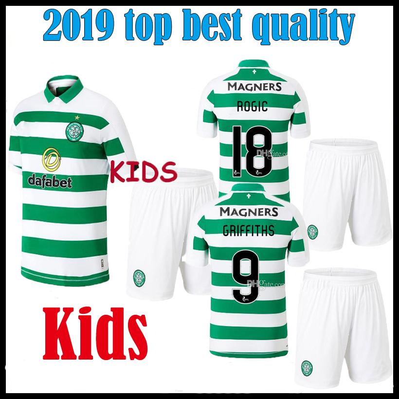 best service 8e28e 939b8 Glasgow Celtic fc 2019 2020 kids kit Soccer Jersey home McGregor 19 20  Celtic Griffiths dembele Sinclair Roberts boy kit Football Shirt