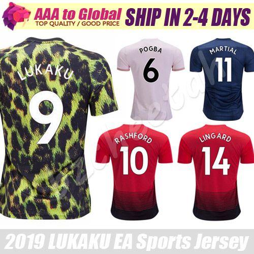 2019 Pogba Soccer Jersey 2019 EA Sports Lukaku Rashford Mata Lingard  Solskjaer Martial Alexis Shirts Football Jerseys Camiseta De Futbol From  Bzcheetah 0d0d94eb3