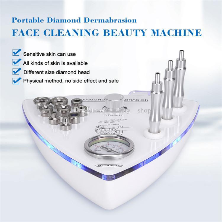 Machine portative de microdermabrasion avec des baguettes de diamant et des bouts de diamant de pour la peau peler la machine de Dermabrasion pour l'usage à la maison