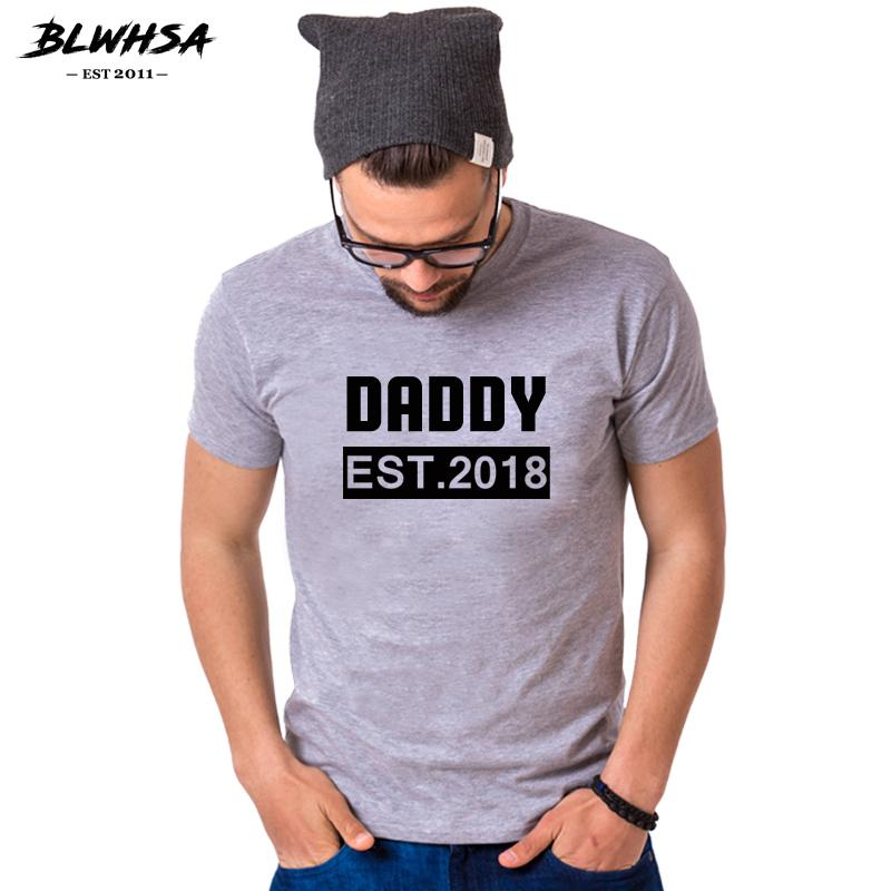 e1ec348b Blwhsa Daddy Est 2019 Print T Shirt Men Fashion Casual Cotton O Neck Custom Fathers  Day T Shirt Dad Since Tops Tees Gift For Dad Awesome Tee Shirt Designs T ...