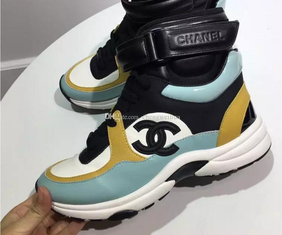 new arrivals 102c1 b85ac Personalità e moda famose scarpe di lusso di marca di designer scarpe da  ginnastica con le donne casual in vera pelle di alta qualità designer casual