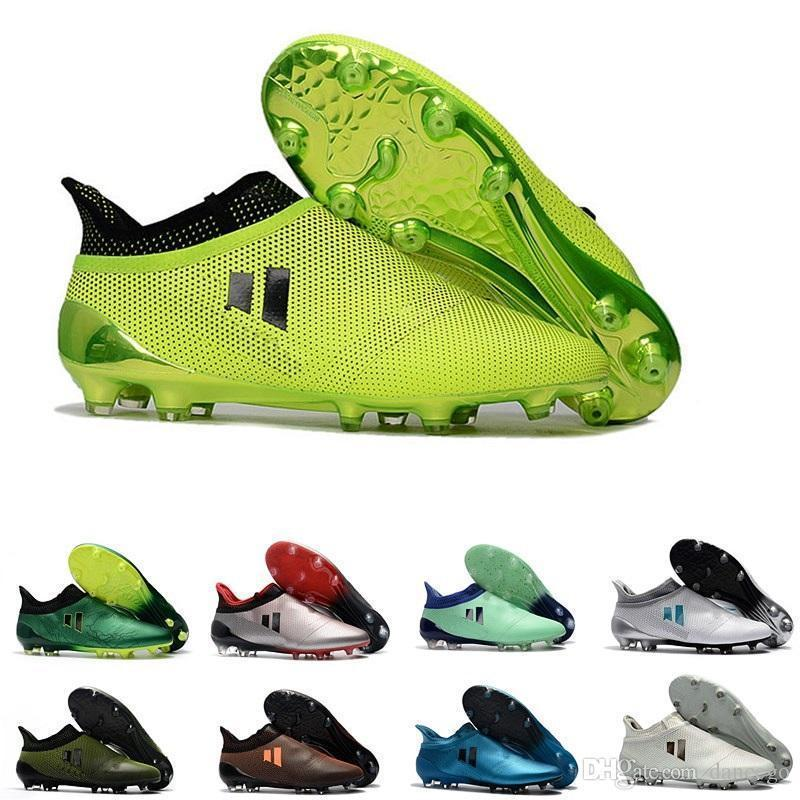 new arrival low soccer shoes for youth Grass green gold black ACE 17 PureControl FG soft spike football shoes for trainers-as62d52aw