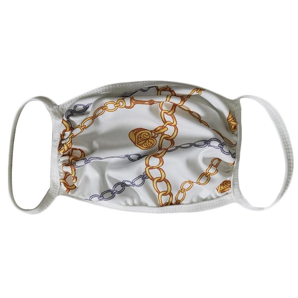 Дизайнер Face Mask моющийся Luxury Анти Dust Face Cover Респиратор пылезащитный езда Спорт антибактериальное многоразовый Mouth Ice Шелковые маски DHL