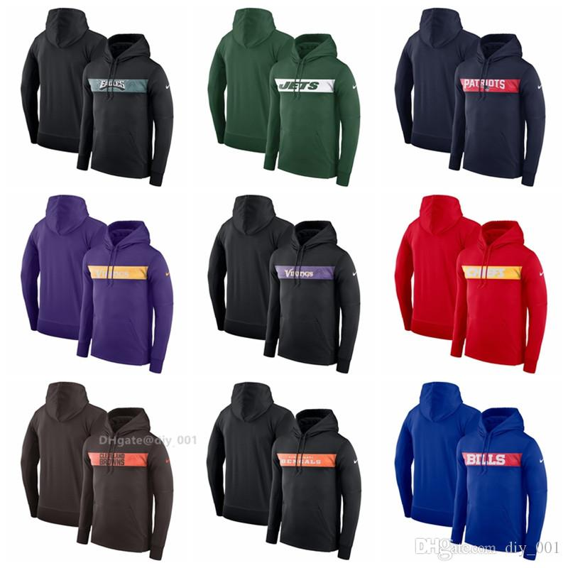 the latest 15967 5be05 Men Women Youth Philadelphia Eagles Patriots Minnesota Vikings Cleveland  Browns Buffalo Bills Sideline Team Performance Pullover Hoodie