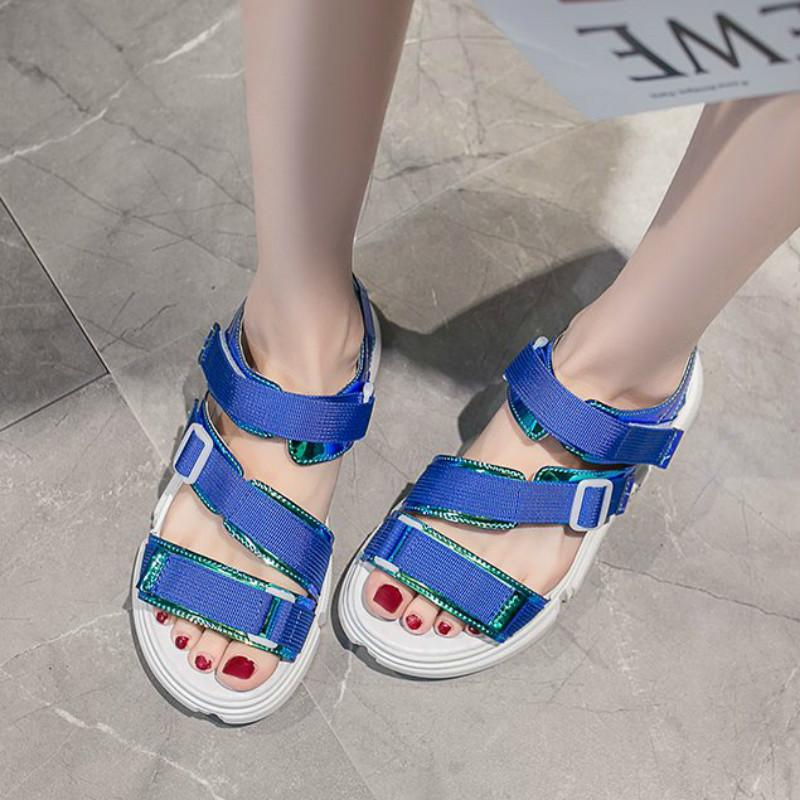 4ad00ec1a15 Women Sandals 2019 New Fashion Ladies Casual Shoes Laser Thick Bottom  Buckle Strap Platform Shoes Summer Harajuku Sandals