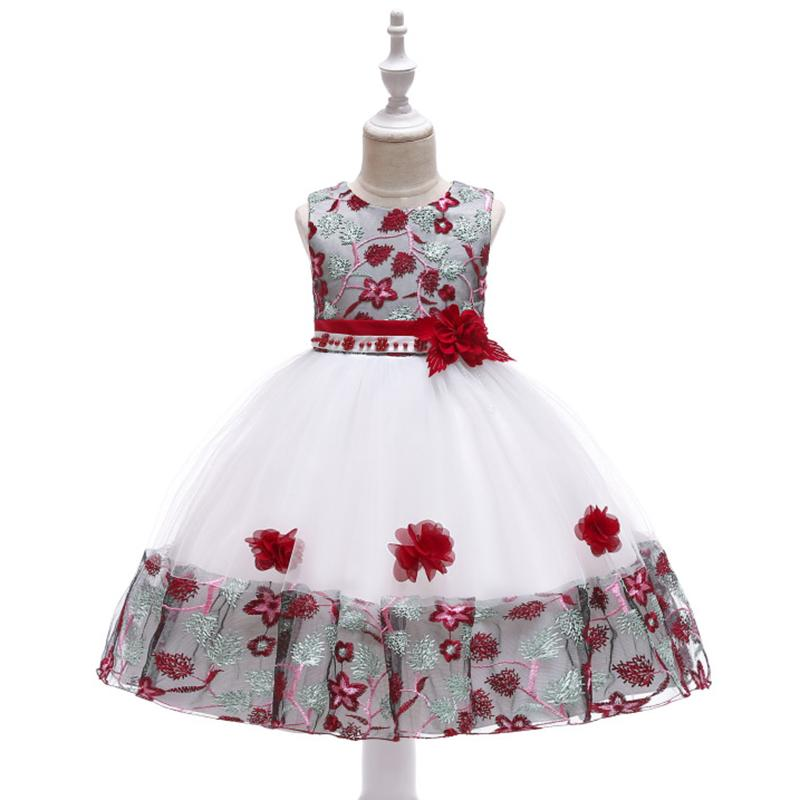 1b70dfe78d3 2019 2019 Spring Flower Girl Dresses Vintage Sash Beaded Flower Baby Girl  Birthday Party Christmas Communion Dresses Children Girl Party Dresses From  ...