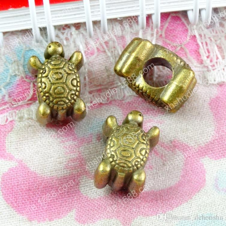 60pcs 8.9*12.5*8.6MM Antique bronze alloy european turtle turtoise ornament charms for bracelet vintage metal loose beads DIY jewelry making