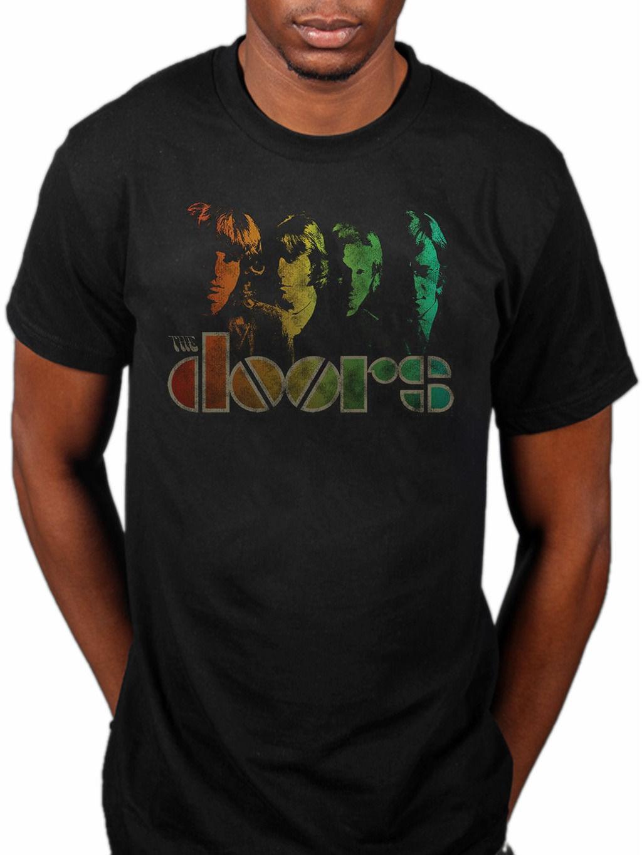 Official The Doors Spectrum T-Shirt Band Merch Jim Morrison LA Woman  Vintage 2018 New Brand Mens T Shirt Cotton Short Sleeve print
