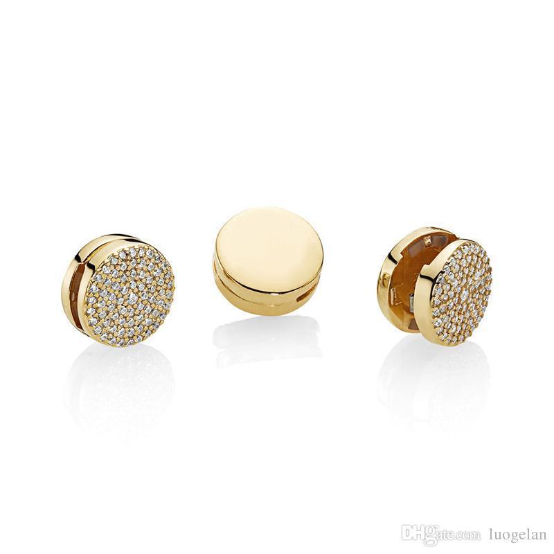 2018 Autunno Argento 925 gioielli riflessioni abbagliante eleganza clip perline di fascino adatto pandora bracciali collana i monili delle donne