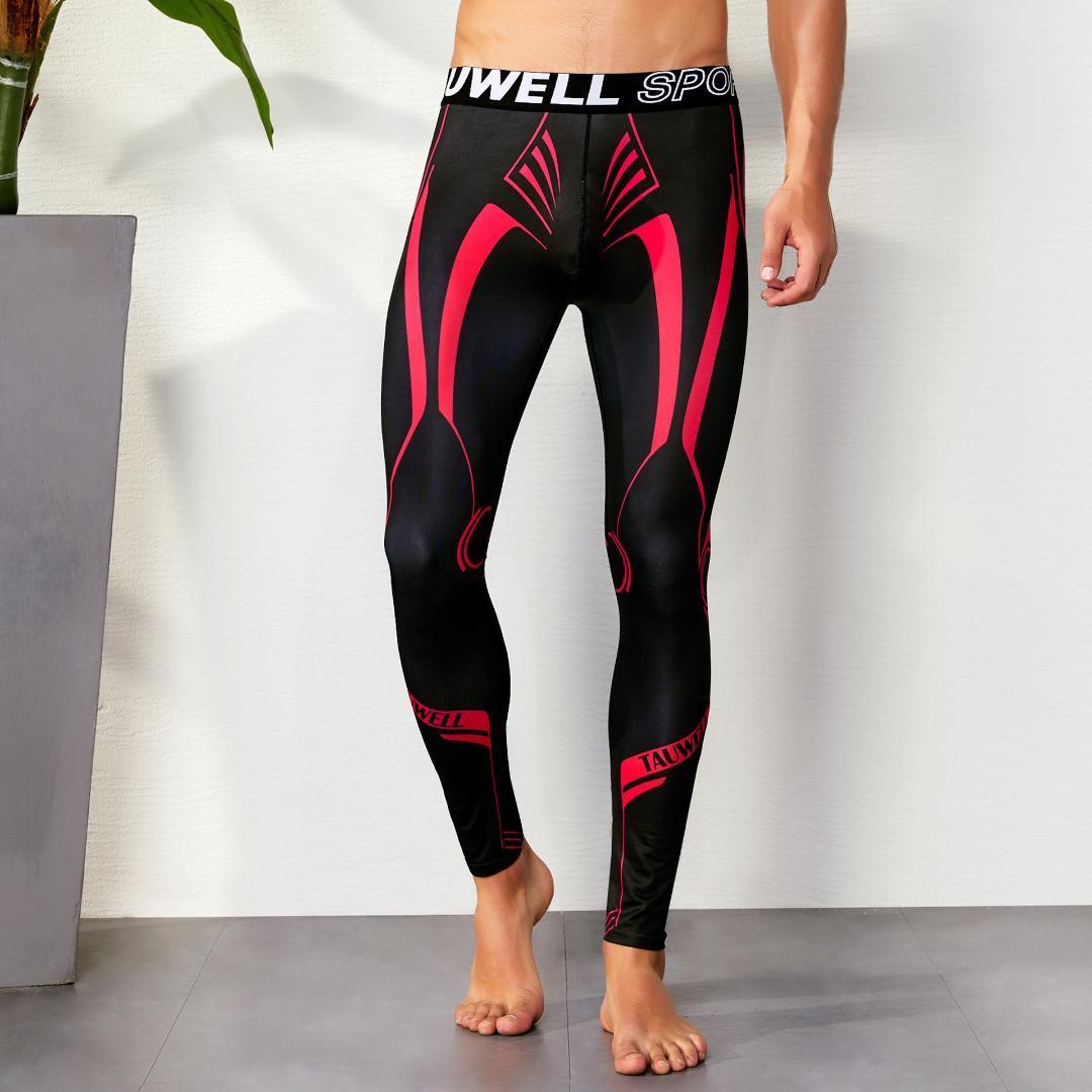 Compre Sexy Correr Medias Hombres Pantalones De Compresión Gimnasio Gay  Mens Gym Deporte Leggings Ropa Hombre Ejercicio De Entrenamiento Leggins  Marca A ... ad445b2416699