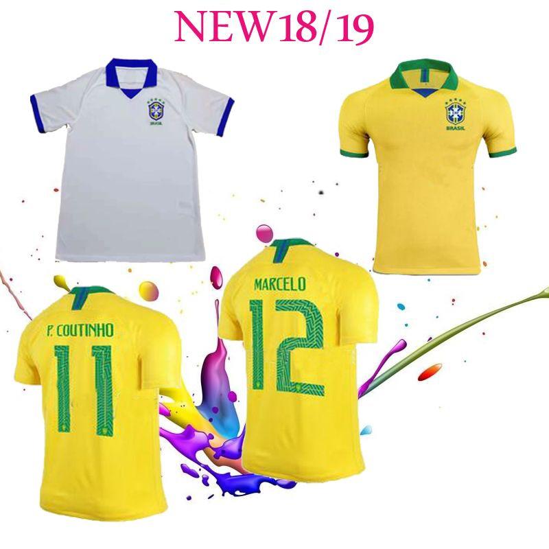 2019 2020Brazil Home Soccer Jerseys 19 20 Brasi Shirts Carlos Romario  Ronaldo Ronaldinho Jersey Camisa De Futebol 2019 2020 Online with  22.49  Piece on ... 4bb8a3b39
